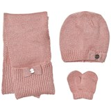 Mayoral Pink Knitted Hat, Scarf and Mittens Set