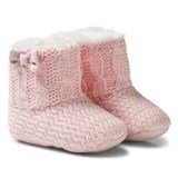 Mayoral Pink Knitted Faux Fur Lined Booties
