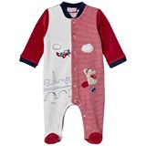 Mayoral Red and Cream Puppy and Plane Applique Babygrow