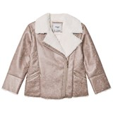 Mayoral Brown Faux Shearling Biker Jacket