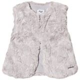 Mayoral Grey Textured Faux Fur Gilet