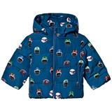 Stella McCartney Kids Navy Swan Print Hubert Puffer Coat