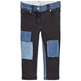 Stella McCartney Kids Black Nina Denim Jeans with Patches