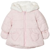 Absorba Pale Pink and Spot Paddded Hooded Coat