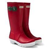 Hunter Military Red Conour Sole Kids Wellies