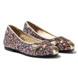 Little Marc Jacobs Multi Glitter Leather Mouse Pumps