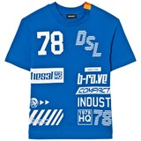 Diesel Blue All Over Logo Knit T Shirt