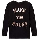 Diesel Black Make & Break The Rules Logo Long Sleeves Tee
