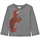 Paul Smith Junior Grey Dinosaur Print Long Sleeve T-Shirt
