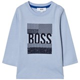 BOSS Pale Blue Branded Graphic T-Shirt