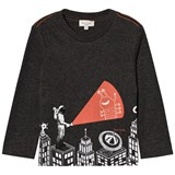 Paul Smith Junior Dark Grey Astronaut Glow in the Dark and Reflective T-Shirt