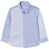 Paul Smith Junior Blue Stripe Shirt with Multi Stripe Cuff