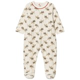 Catimini Cream Tiger Print Velour Babygrow