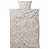 ferm LIVING Grey Swan Baby Bedding