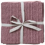 ferm LIVING Pack of 3 Burgundy Muslin Squares