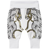 Karen Brost White Sweatpants with Horse Print
