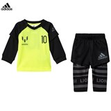 adidas Yellow and Black Messi Infants Top and Bottoms Set