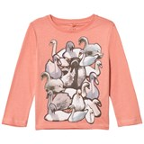 Stella McCartney Kids Pink Swans Print Bella Tee