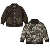 Stella McCartney Kids Green Camo Bud Bomber Jacket