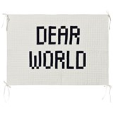 Bobo Choses White Dear World Quilted Wall Hanger