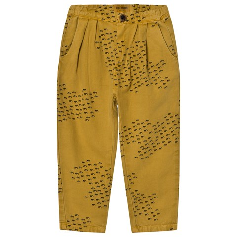 Bobo Choses Yellow Flocks Print Baggy Trousers