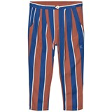 Bobo Choses Rust and Blue Awning Stripes Baggy Trousers