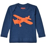 Tapete Blue LS T-shirt with orange airplane