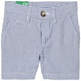 United Colors of Benetton Blue and White Stripe Chino Shorts