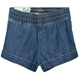 United Colors of Benetton Blue Denim Shorts with Turn Up Hem