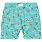 United Colors of Benetton Aqua Blue Lobster Print Jersey Shorts