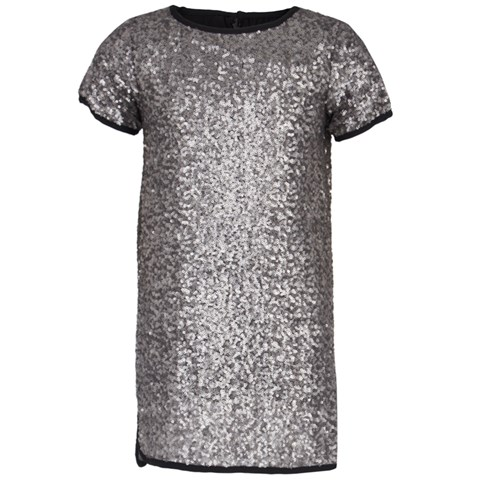 Zadig & Voltaire Silver Sequin Shift Dress