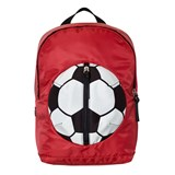 Dolce & Gabbana Red Football Backpack with Branded Plaque