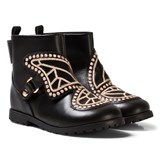Sophia Webster Mini Black Butterfly Studded Ankle Boots