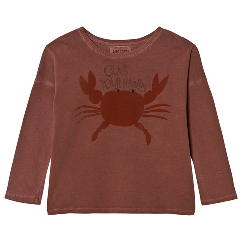 Bobo Choses Muted Red Crab Your Hands T-Shirt