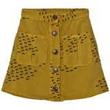 Bobo Choses Mustard Flocks Print Buttons Skirt