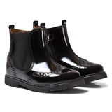 Start-rite Black Patent Brogue Boots
