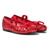 Pretty Ballerinas Red Glitter Ballerina Pumps