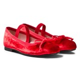 Pretty Ballerinas Red Velvet Ballerina Pumps