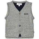 BOSS Grey and Navy Knit Vest