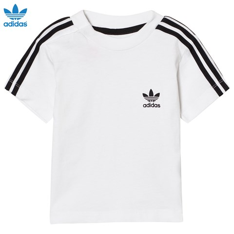 adidas Originals White Infants 3 Stripe Tee