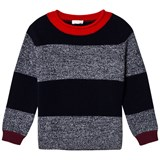 Il Gufo Navy and Marl Stripe Sweater