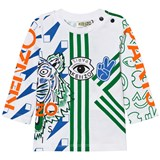 Kenzo Kids White and Multi All Over Icons Print Tee