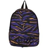 Kenzo Kids Blue Animal Print Logo Backpack