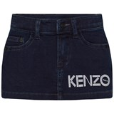 Kenzo Kids Dark Indigo Branded Denim Skirt