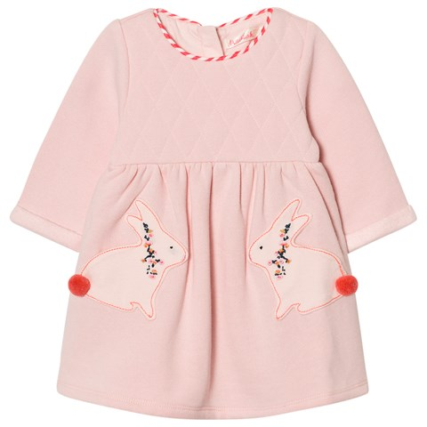 Billieblush Pale Pink Quilted Bunny Detail Dress
