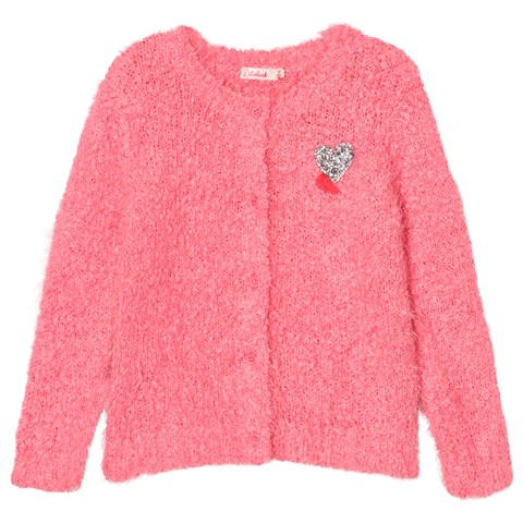 Billieblush Pink Fluffy Knit Cardigan