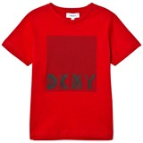 DKNY Red Branded Graphic Tee