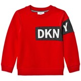 DKNY Red Branded Sweatshirt