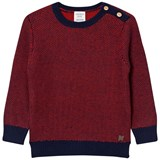 Carrément Beau Red and Navy Knit Jumper