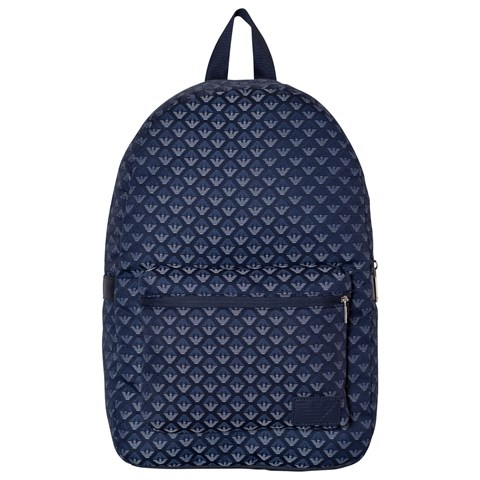 Emporio Armani Grey All Over Logo Backpack  8a0d5dffd6840